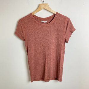 Abercrombie & Fitch Pink Ribbed Slim Fit T Shirt